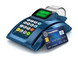 С помощью POS-терминала можно сделать оплату банковской картой
