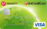 Кредитная карта ЮниКредит S7 Priority VISA Green
